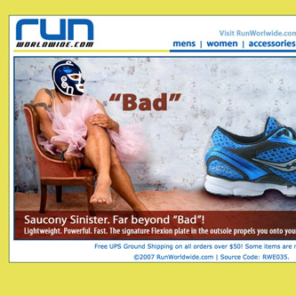 Saucony Sinister email